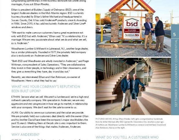 Alan Robinson Interviewed for Andersen Dealer Spotlight
