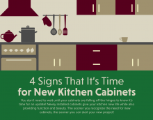4 Signs That It's Time for New Kitchen Cabinets