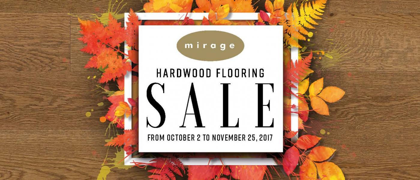 Mirage Fall 2017 Hardwood Flooring Sale Image